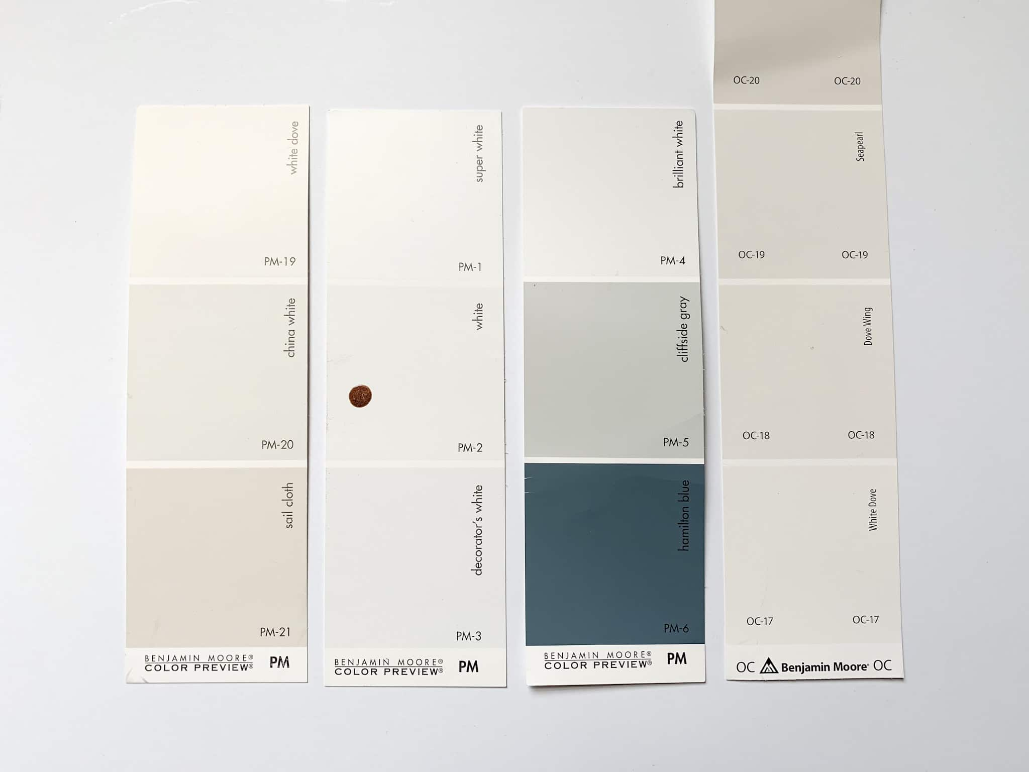 Benjamin Moore White Comparison