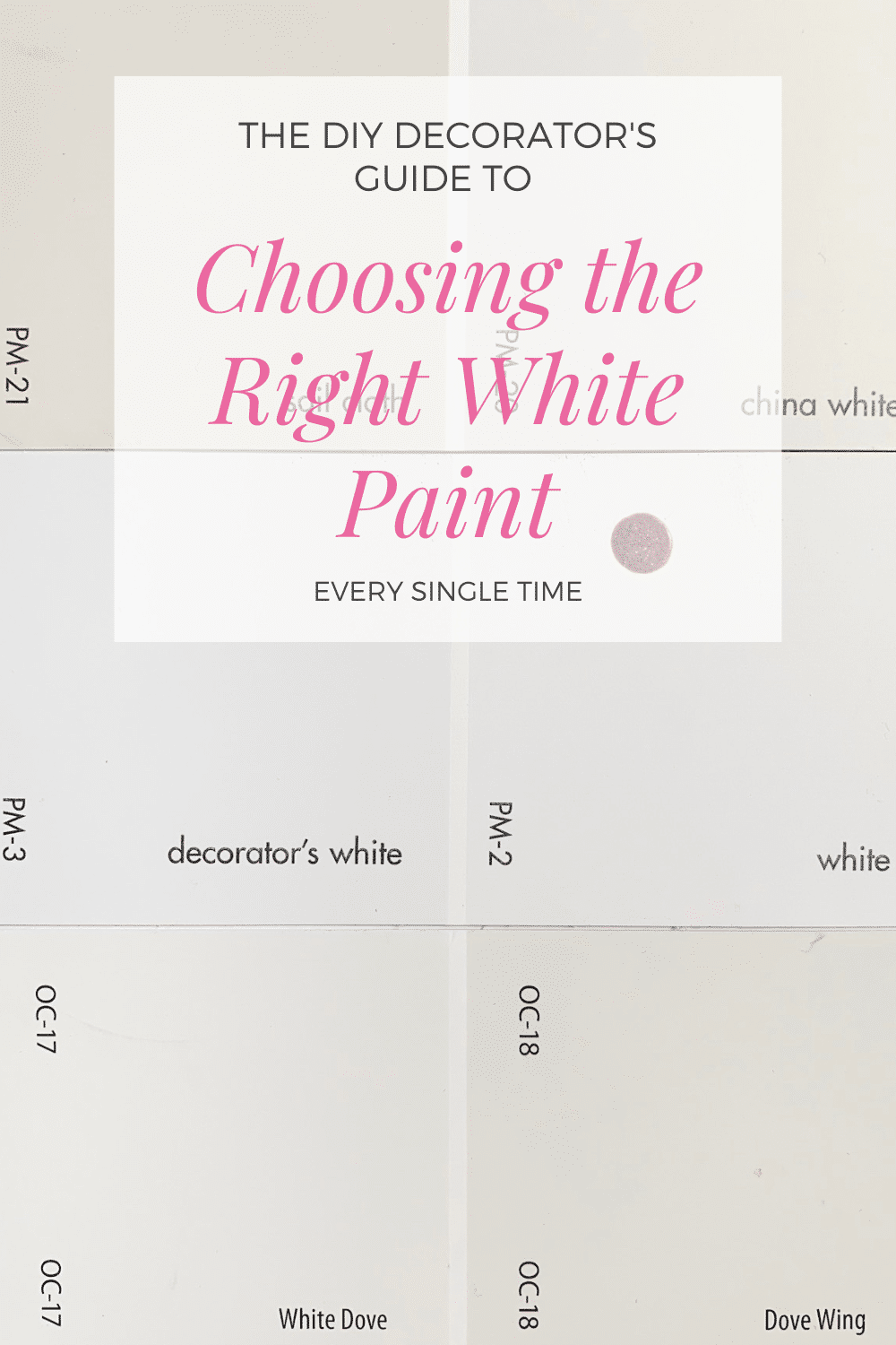 How to Choose the Best White Paint - Benamin Moore | StampinFool.com