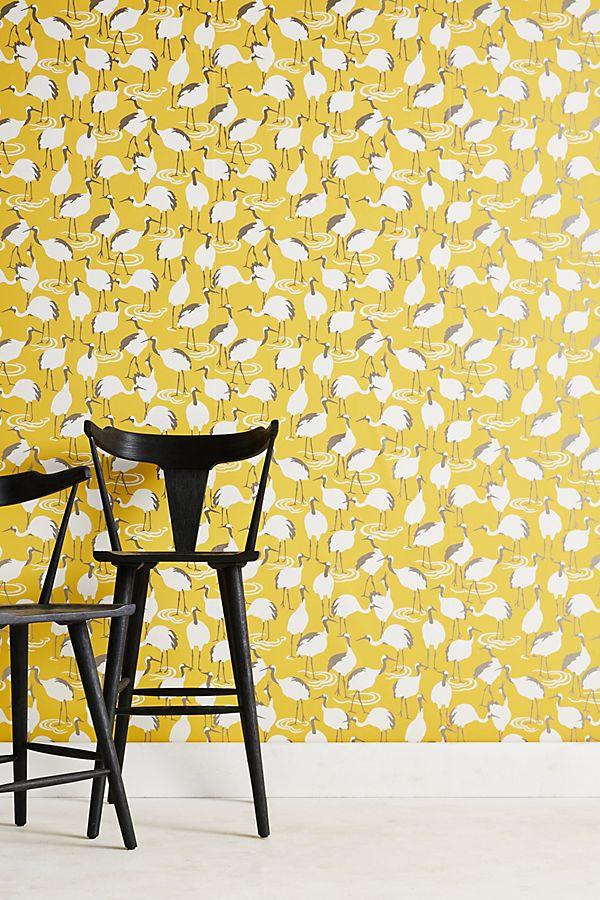 Winter Cranes Wallpaper