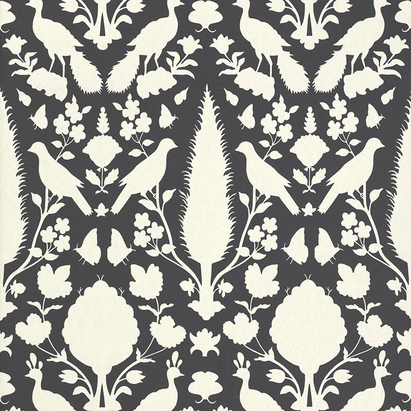 Dark gray schumacher CHENONCEAU Wallpaper 2020
