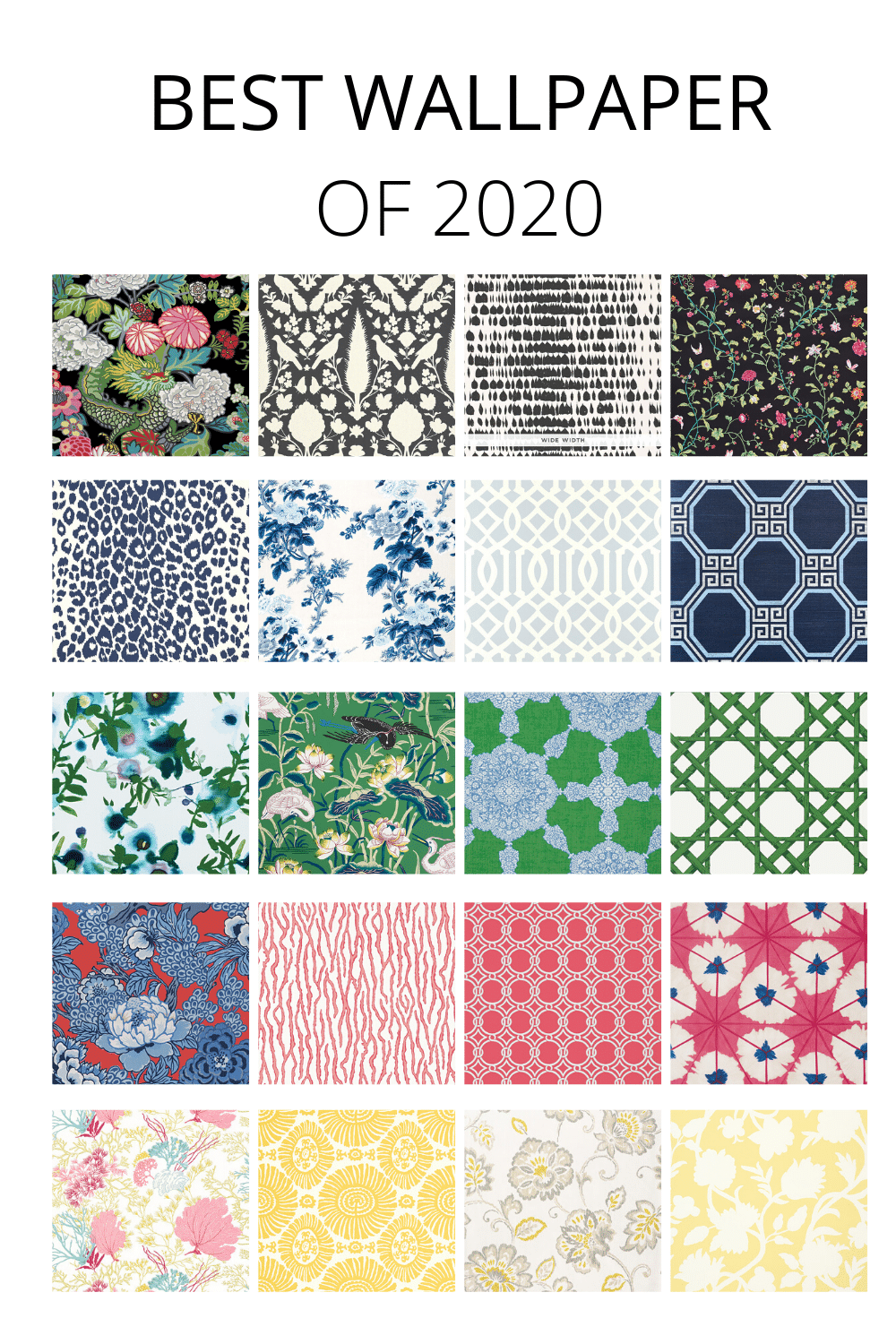 The Best Wallpaper of 2020 in Every Color from | StampinFool.com