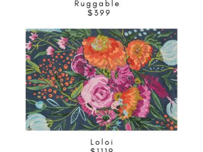 Splurge vs Steal on Floral Rugs
