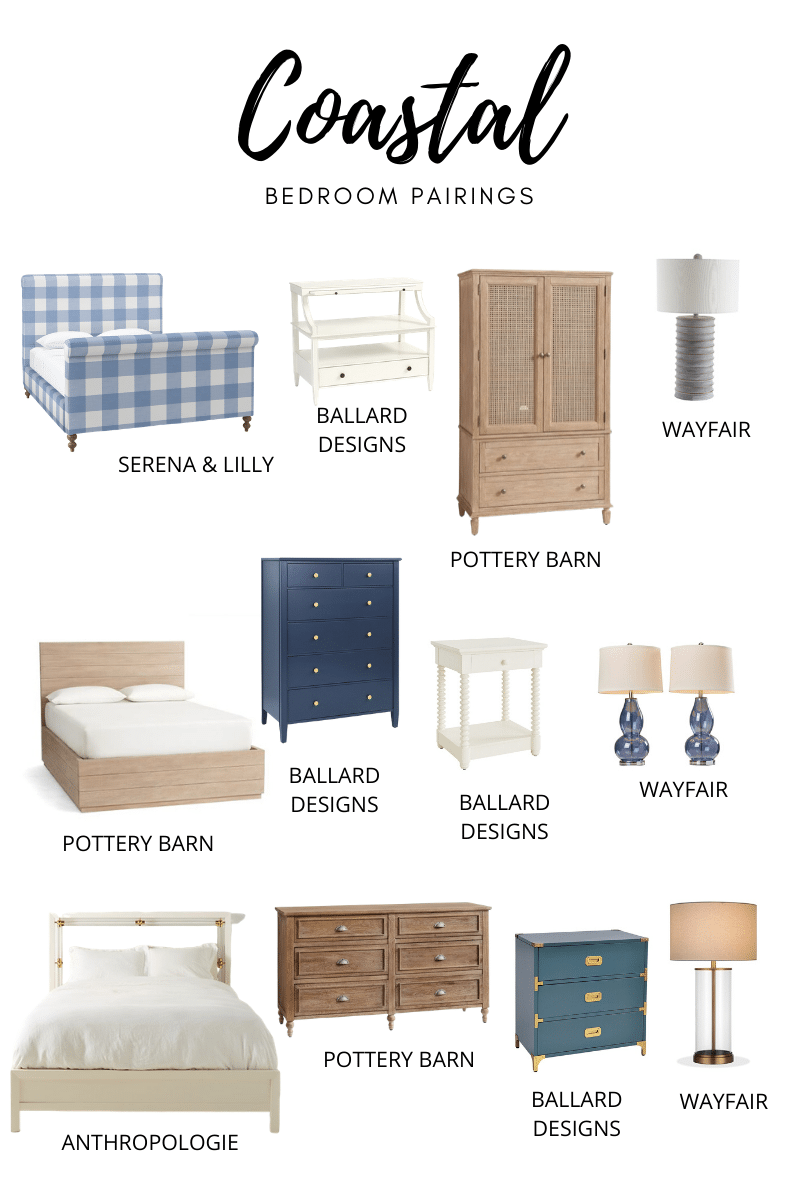 Bedroom Design Tips + Inspiration for Coastal Bedroom Furniture Pairings from StampinFool.com