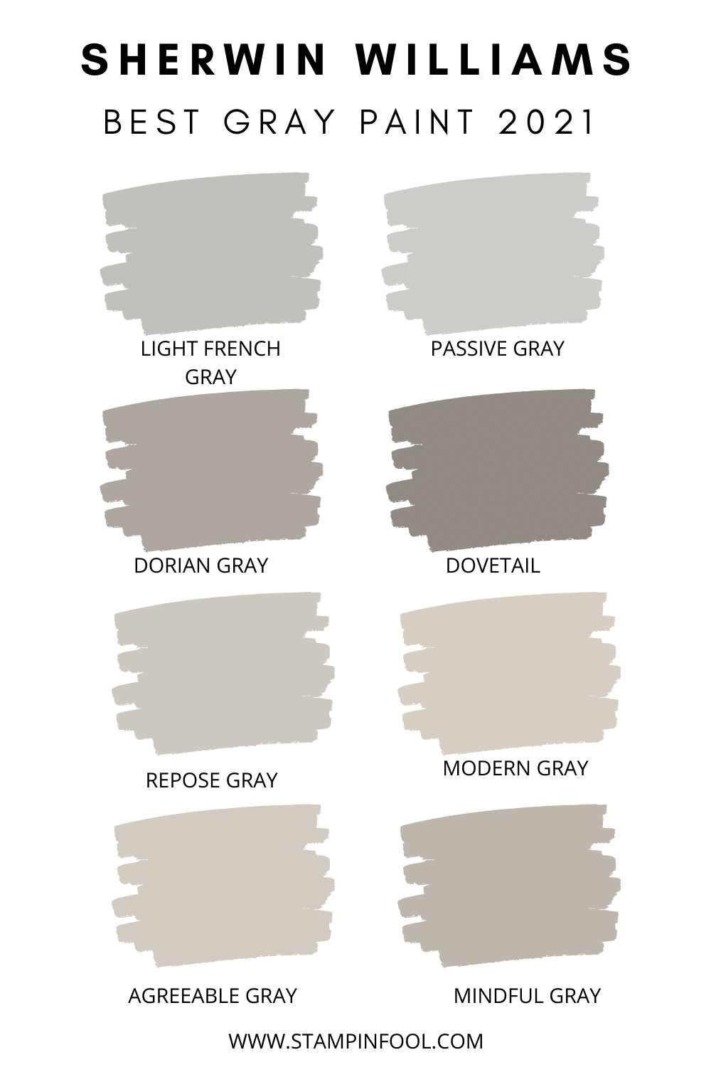 Best Sherwin Williams Gray Paint Colors of 2020