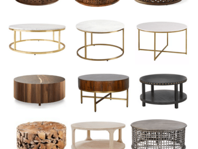 BEST ROUND COFFEE TABLES FOR EVERY BUDGET