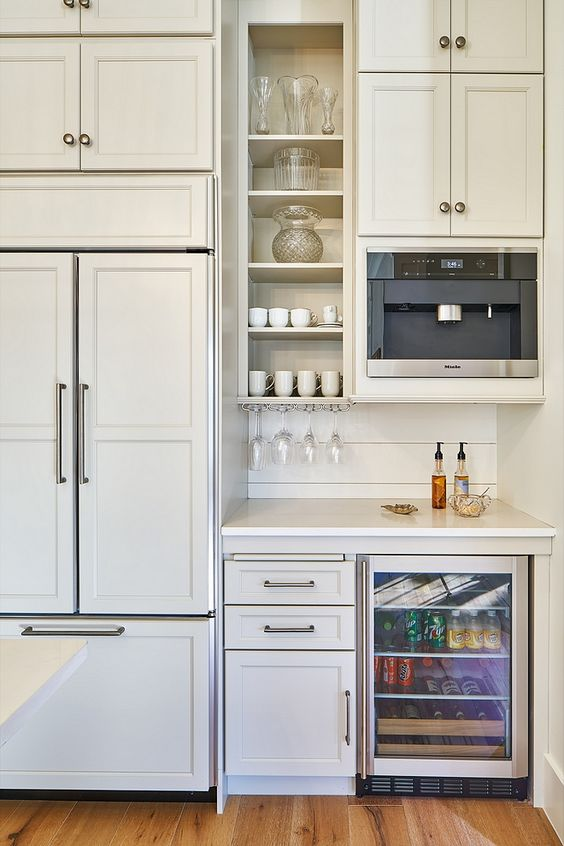 Built In Home Coffee Station in Kitchen