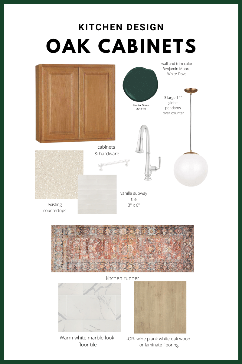 Use this Wall Paint Color for Oak Cabinets