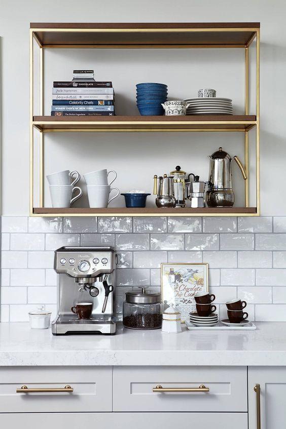 Open Shelf Home Coffee Station