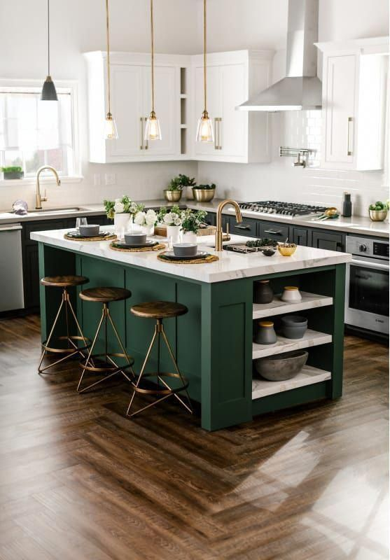 The Best Dark Wall Paint Color for Oak Cabinets