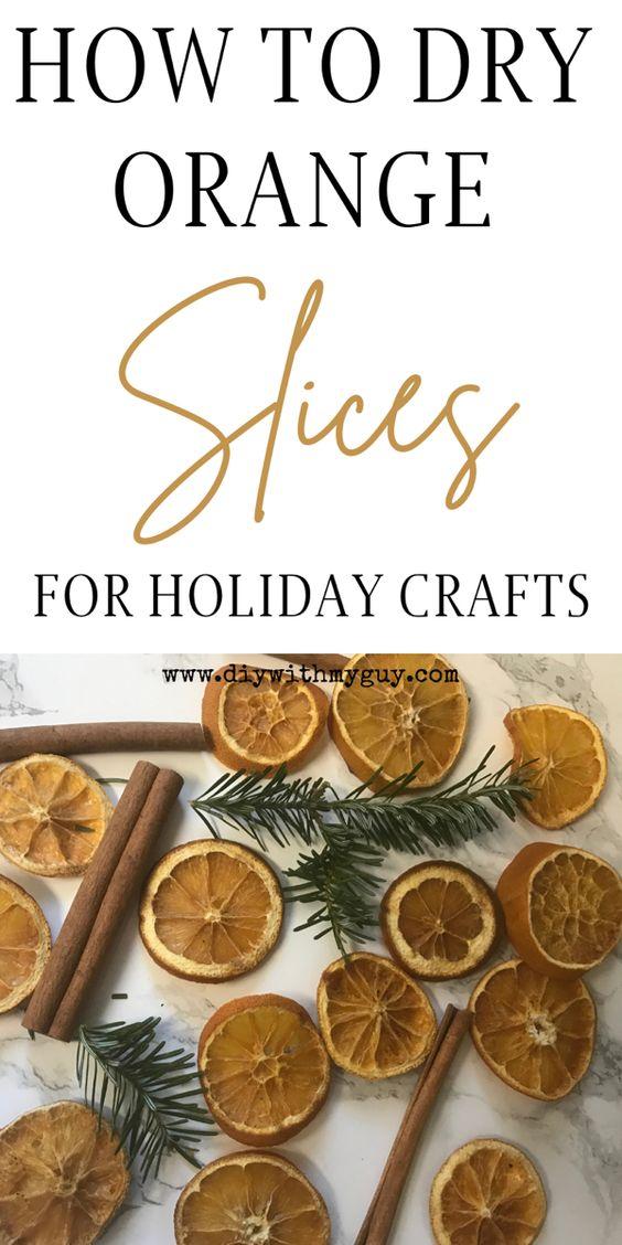 Last Minute Christmas Decor Orange Slices