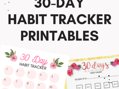 30 Day Challenge Printables for 2021