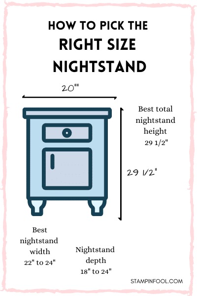 SIMPLE RULES FOR THE RIGHT SIZE NIGHTSTAND EVERY TIME