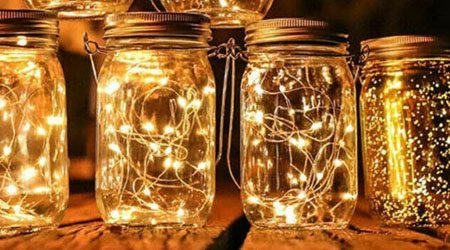Solar Mason Jar Lantern Enrichment for your gondola cruise