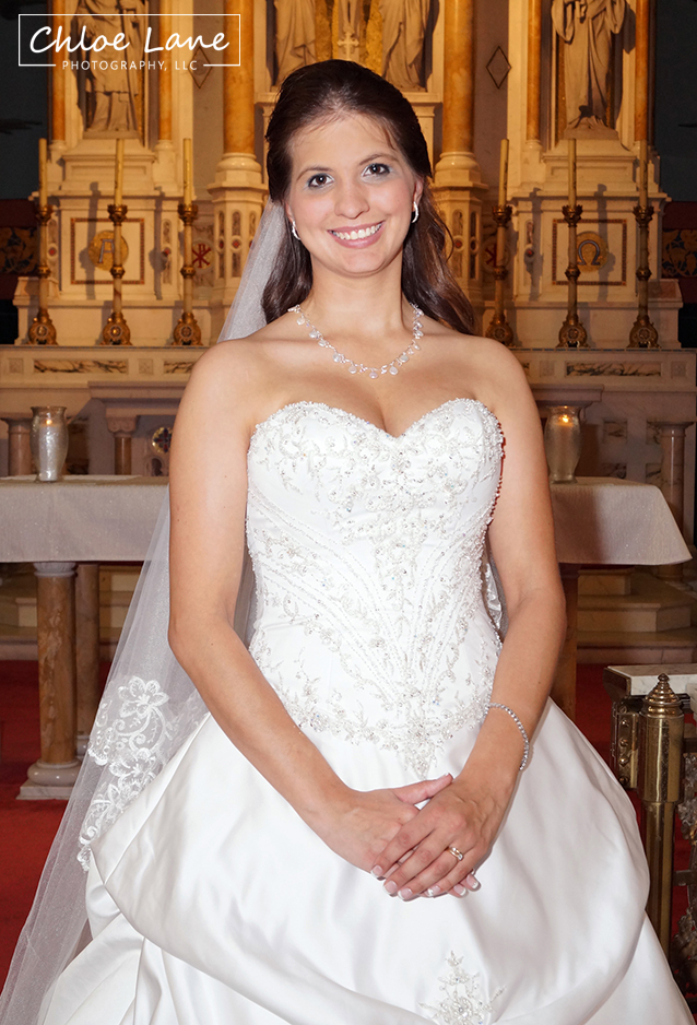 bride in her gown after wedding ceremony in Latrobe PA by Chloe Lane Photography Greensburg and Latrobe