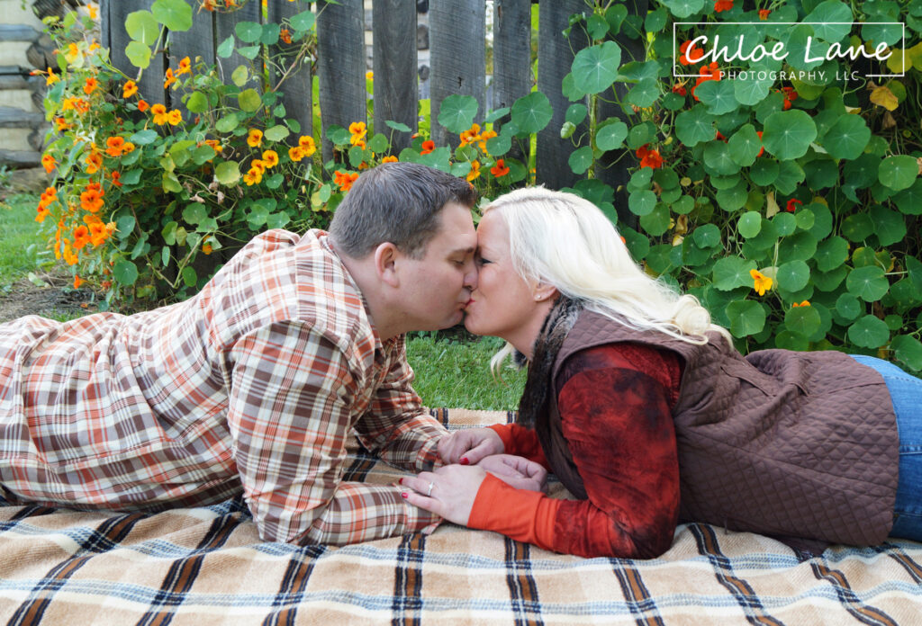 engagement photos at Historic Hanna's Town in Greensburg, PA