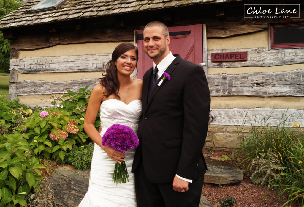 Bride-and-Groom-outside-reception-at-Foggy-Mountain-Lodge
