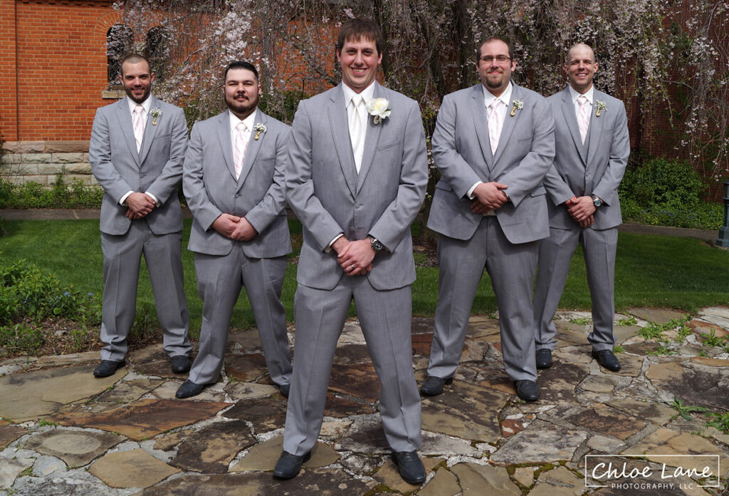 Groomsmen-photo-St-Vincent-Basilica-Wedding-Latrobe-PA