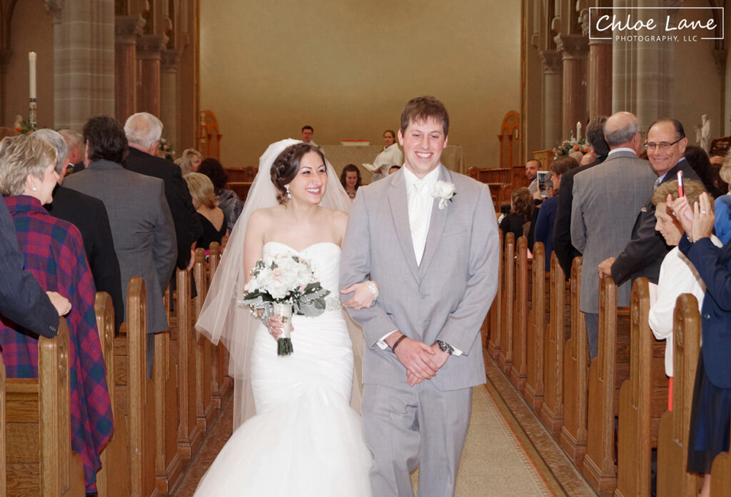 St-Vincent-Basilica-Wedding-Bride-Groom-aisle-Latrobe-PA