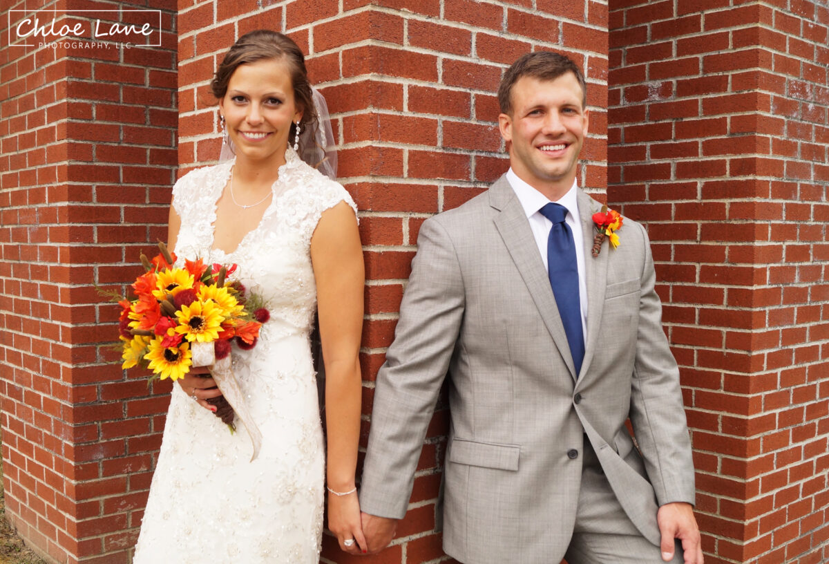 bride-groom-wedding-photos-outside-St-Marys-Church-Latrobe-Pennsylvania