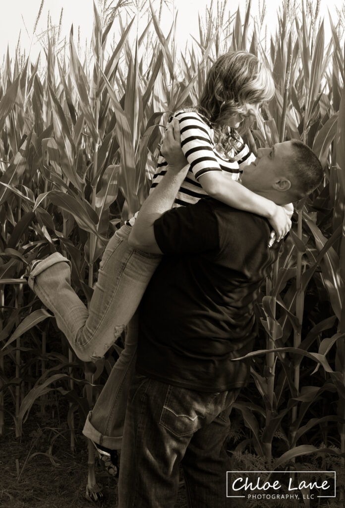 Happy-Couple-Corn-Field-Engagement-Photos-Norvelt-Mt-Pleasant-Pennsylvania