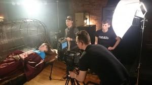 Avast filming on Set