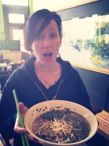 030 - Andreka getting some fancy pho in Missoula, MT