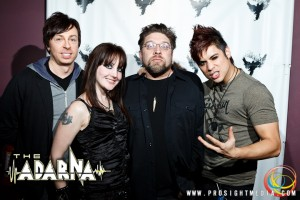 Dan, Patrick, Andreka, and William at The Adarna's CD Release Show 2012