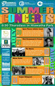 120 - Hiawatha Summer Concert Poster feat The Adarna