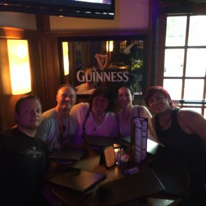 094 - Having dinner with one of our favorite people, Deb Meade :D