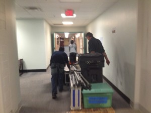 120 - Looong hallway for load in at Roc Con, Rochester NY