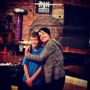 Andreka with our star actor, Blue