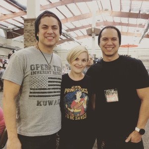 051 - Josh and William from The Adarna with Kari Wahlgren at Saikoucon!