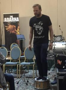 390 - Murdock at his drum workshop - Saikoucon 2018