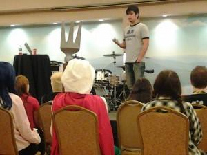 065 - William talking at Saikoucon, Breningsville PA 2014