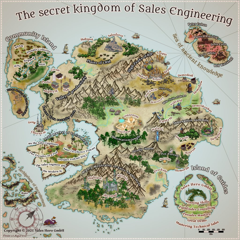 Sales Engineer Presales Software Applications Fantasy Map