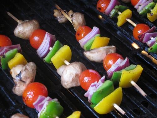 Grilled vegetable skewers1