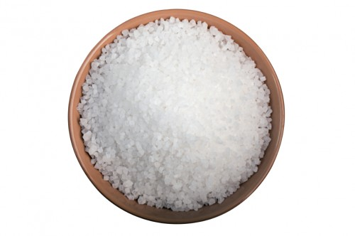 Flavouring: sea salt isolated on white background