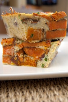 LOW Sweet Potato Crustless Quiche