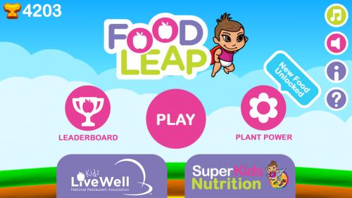 Food Leap Home screen