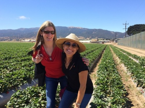Enjoying the strawberry fields with Christy Wilson, RD