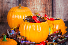 pumpkins with candy