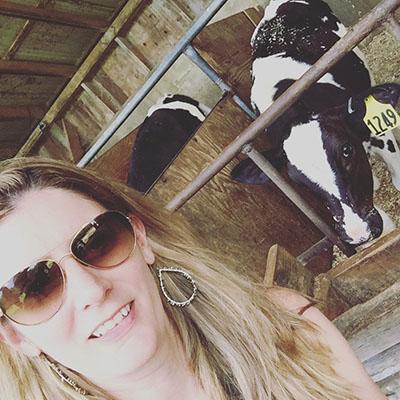 Cow selfie at Fulper Farms
