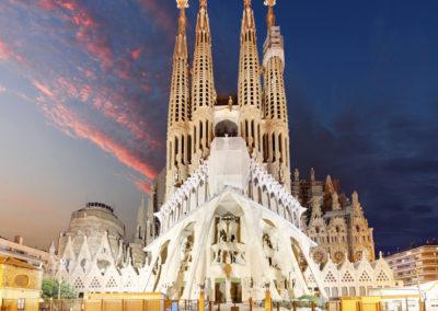 Surreal Sagrada Familia Cathedral in Barcelona by Gaudi