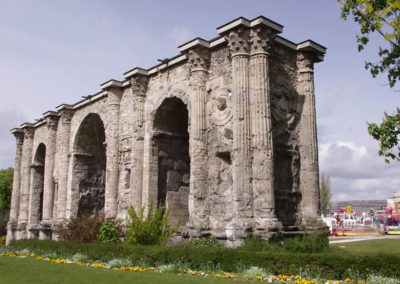 Ancient Roman Porte Mars in Reims