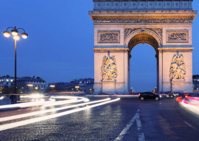 Night Falls at the Arc de Triomphe