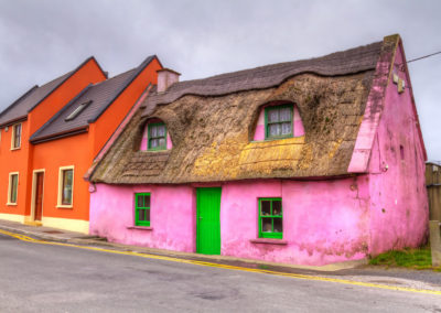 Pink Irish Cottage