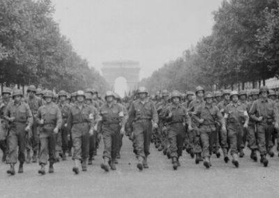 Liberating American Troops of the 28th Infantry Division March Down the Champs-Élysées, August 29, 1944
