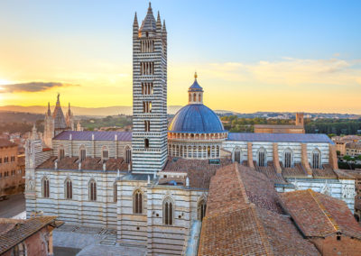 A Siena Sunset With Panoramic View of the Cathedral Duomo