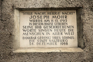Silent Night was written in Salzberg
