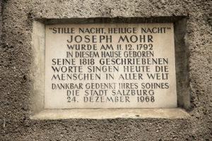Silent Night was written in Salzberg